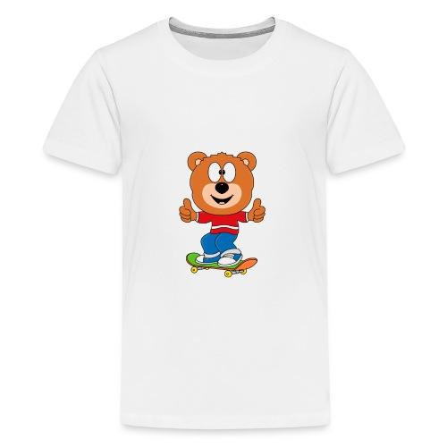 Teddy - Bär - Skateboard - Sport - Kind - Baby - Teenager Premium T-Shirt