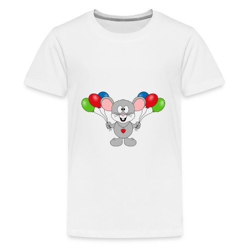 Maus - Luftballons - Geburtstag - Party - Kind - Teenager Premium T-Shirt