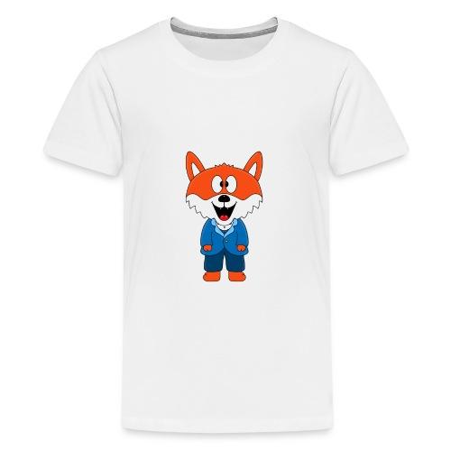 Fuchs - Bräutigam - Hochzeit - Heirat - Tier - Teenager Premium T-Shirt