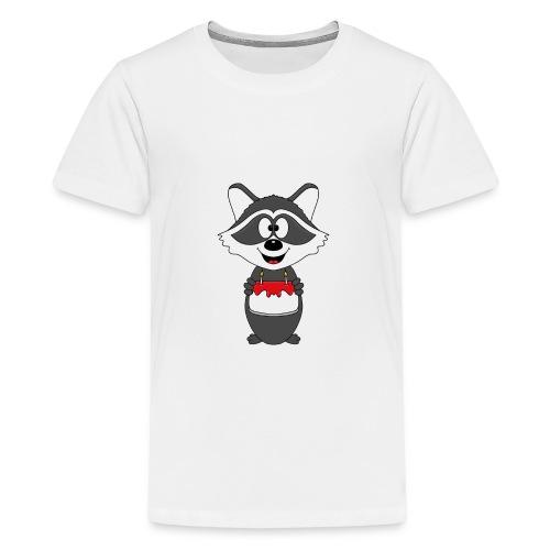 Waschbär - Geburtstag - Torte - Kind - Tier - Baby - Teenager Premium T-Shirt