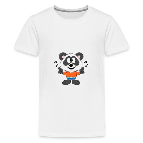 Panda - Bär - Musik - Kind - Tier - Baby - Teenager Premium T-Shirt