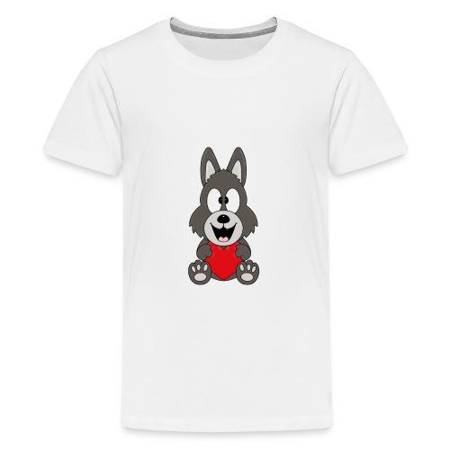 Wolf - Herz - Liebe - Love - Tier - Kind - Baby - Teenager Premium T-Shirt