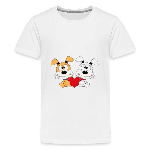 Hunde - Herz - Liebe - Love - Kind - Baby - Tier - Teenager Premium T-Shirt