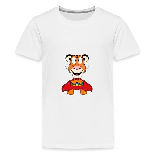 Tiger - Superheld - Kind - Baby - Fun - Teenager Premium T-Shirt