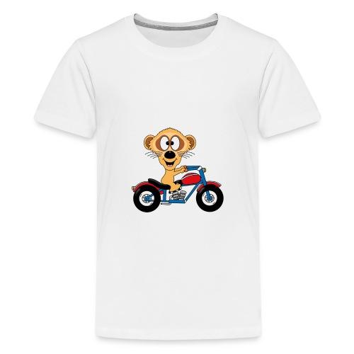 Erdmännchen - Motorrad - Biker - Kind - Baby - Teenager Premium T-Shirt