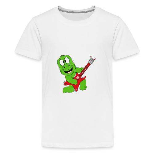 Gecko - Echse - Musik - Gitarre - Liebe - Fun - Teenager Premium T-Shirt