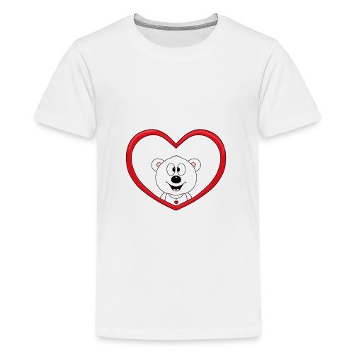 Eisbär - Bär - Teddy - Herz - Liebe - Love - Fun - Teenager Premium T-Shirt