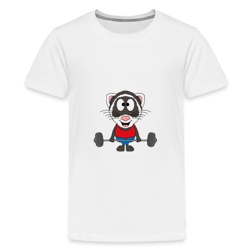 Frettchen - Fitness - Sport - Tier - Kind - Baby - Teenager Premium T-Shirt