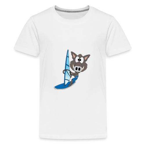 Wildschwein - Surfer - Windsurfer - Sport - Teenager Premium T-Shirt