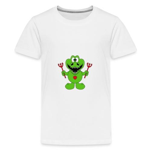 Krokodil - Teufel - Kind - Baby - Tier - Fun - Teenager Premium T-Shirt