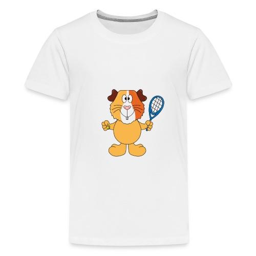 Meerschweinchen - Tennis - Sport - Tier - Kinder - Teenager Premium T-Shirt