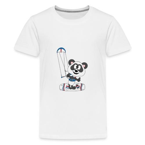 Panda - Bär - Kite - Kitesurfer - Kitesurfen - Fun - Teenager Premium T-Shirt