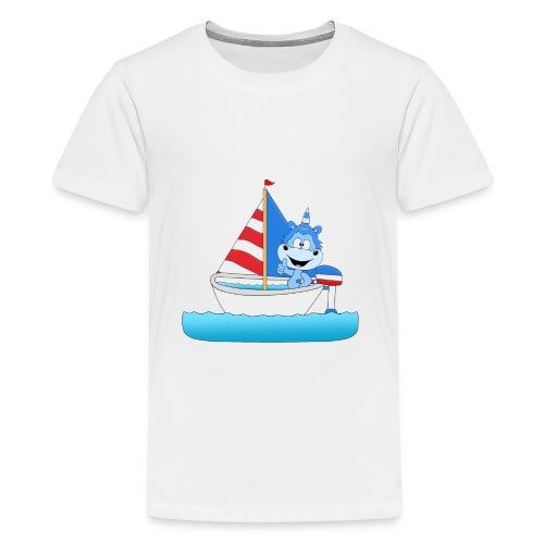 Einhorn - Segeln - Boot - Schiff - Kapitän - See - Teenager Premium T-Shirt