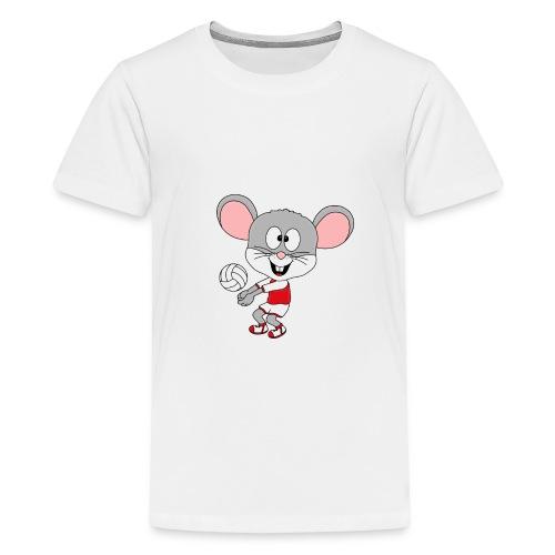 Maus - Volleyball - Sport - Tier - Kind - Baby - Teenager Premium T-Shirt
