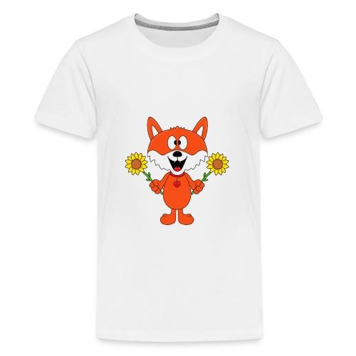 Fuchs - Sonnenblumen - Kinder - Tier - Baby - Teenager Premium T-Shirt