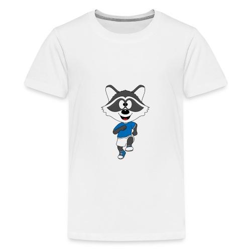 Waschbär - Joggen - Laufen - Sport - Tier - Teenager Premium T-Shirt