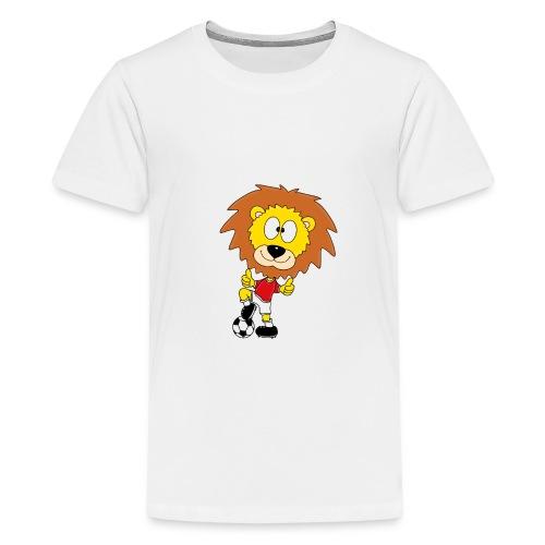 Löwe - Fußball - Kind - Sport - Baby - Tier - Fun - Teenager Premium T-Shirt