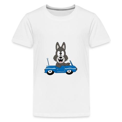 Wolf - Auto - Cabrio - Führerschein - Fahrschule - Teenager Premium T-Shirt