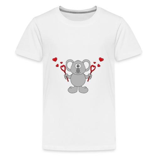 Koala - Bär - Seifenblasen - Herzen - Liebe - Love - Teenager Premium T-Shirt