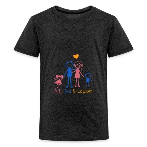Äiti Isa Lapset - Teinien premium t-paita