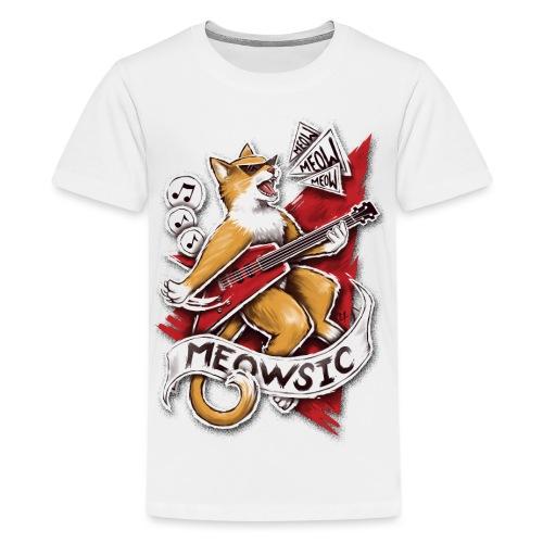Meowsic - Teenage Premium T-Shirt