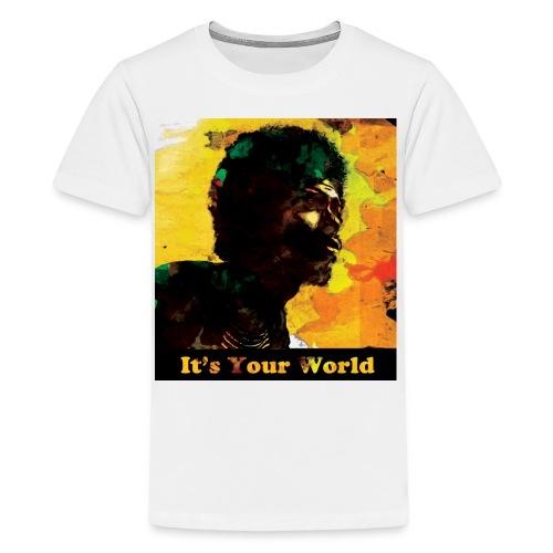 Gil Scott Heron It s Your World - Teenage Premium T-Shirt