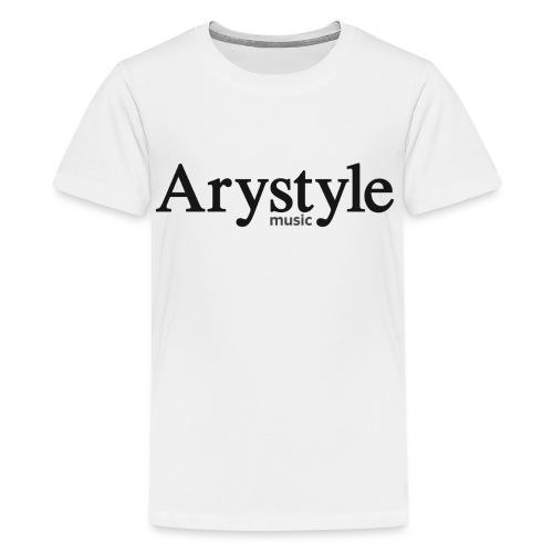Arystyle Noir - T-shirt Premium Ado