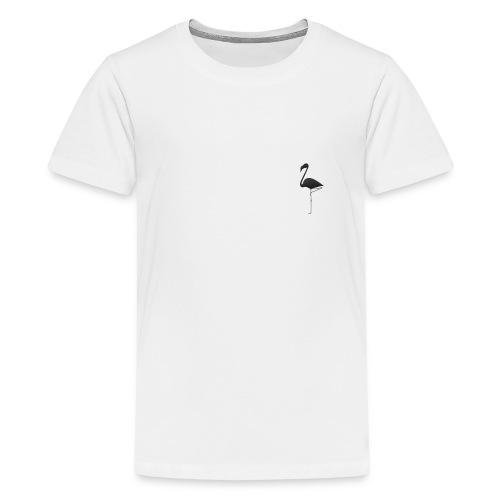 Silhouette Fenicottero - Maglietta Premium per ragazzi