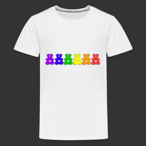 Bärenlust Regenbogen Bären-Reihe - Teenager Premium T-Shirt