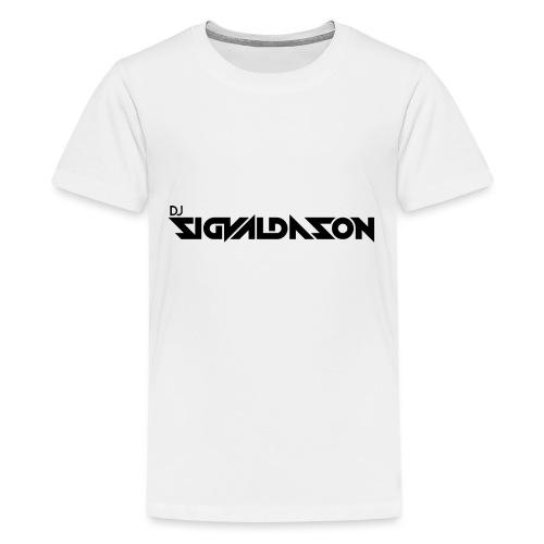 DJ logo sort - Teenager premium T-shirt
