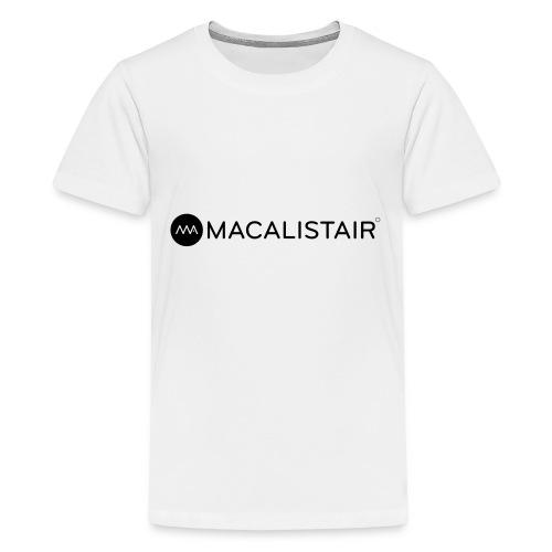 macalistair_logo+tekst - Teenager Premium T-shirt