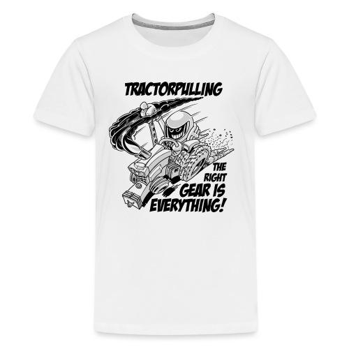 0966 tractorpulling BW - Teenager Premium T-shirt