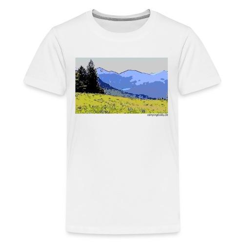 Berge künstlerisch - Teenager Premium T-Shirt