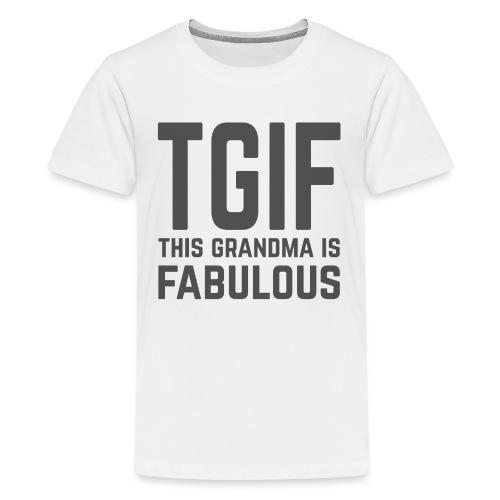 To jest wspaniała babcia - Koszulka młodzieżowa Premium