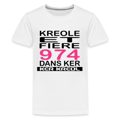 Kreole et Fiere - 974 ker kreol - T-shirt Premium Ado