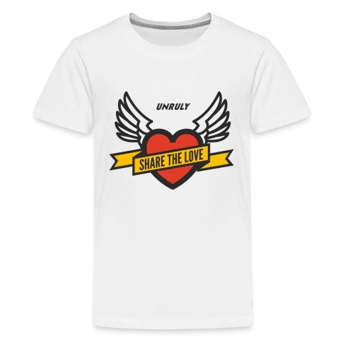 ShareTheLove-Black - Teenage Premium T-Shirt