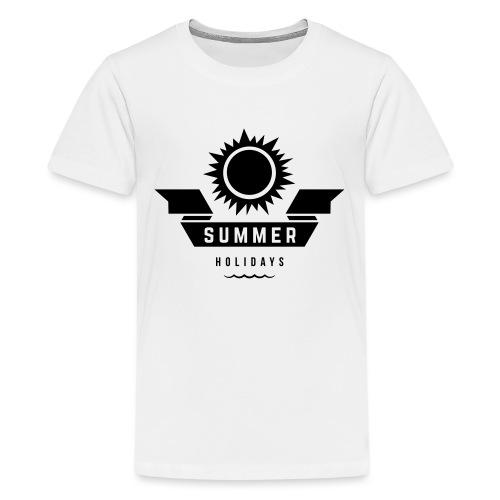 Summer holidays - Teinien premium t-paita