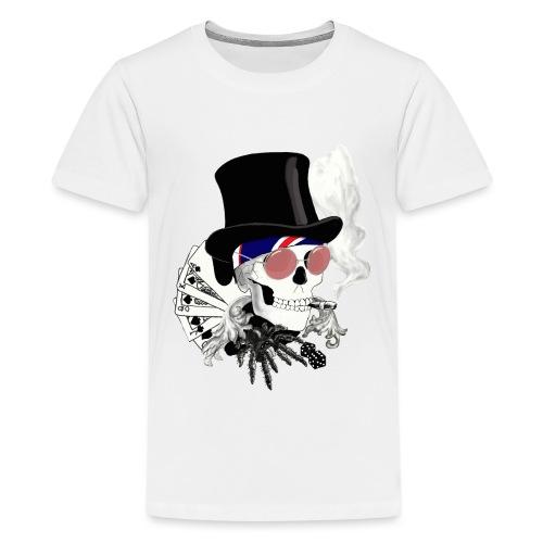 poker-skull - Teenager Premium T-Shirt