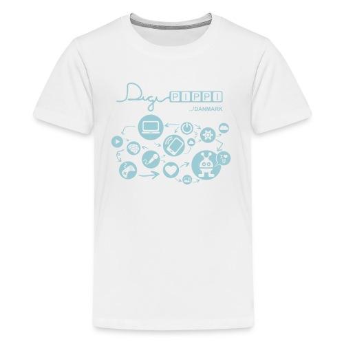 DigiPippi Danmark Blue - Teenager premium T-shirt