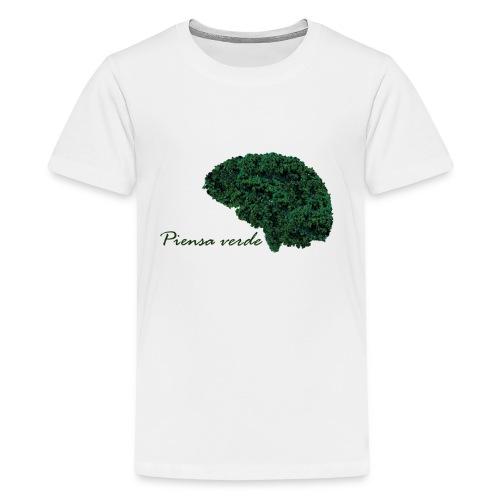 Piensa verde - Camiseta premium adolescente
