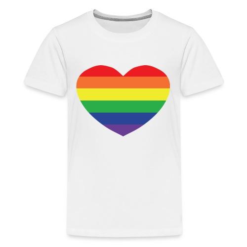 Rainbow heart - Teenage Premium T-Shirt