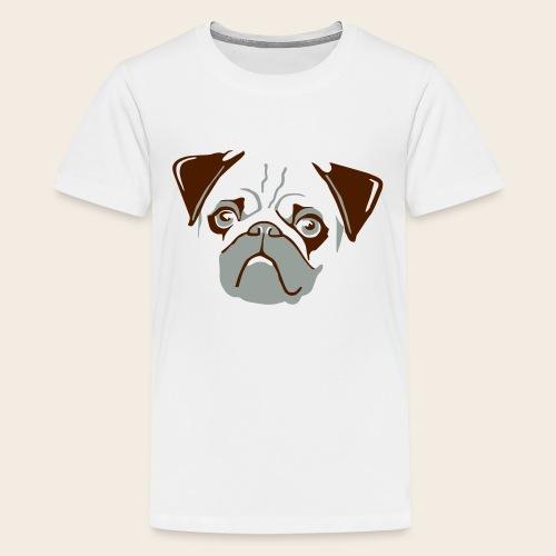 otiz mops kopf 2farbig - Teenager Premium T-Shirt