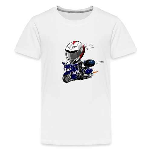 FJR OceanBlue helm en kofferset - Teenager Premium T-shirt