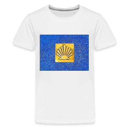 Scallop Shell Camino de Santiago - Teenage Premium T-Shirt