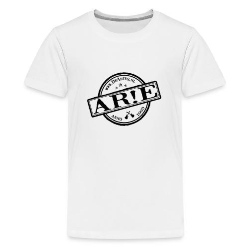 Backdrop AR E stempel zwart gif - Teenager Premium T-shirt