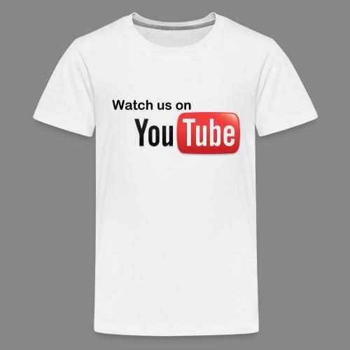 youtube hd logo by marcosrstone d37ot4e png - Teenager Premium T-shirt