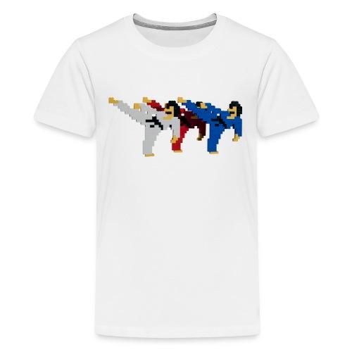 8 bit trip ninjas 2 - Teenage Premium T-Shirt