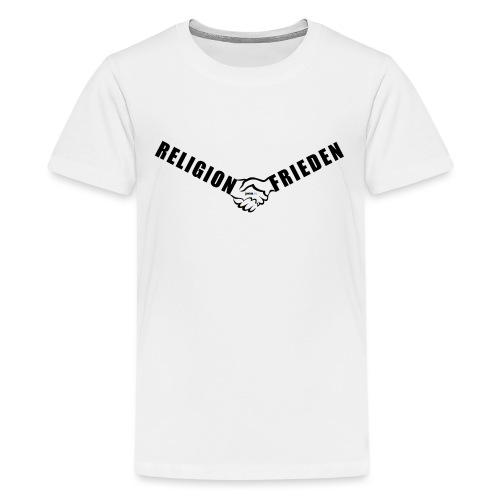 46_Handschlag_01 - Teenager Premium T-Shirt