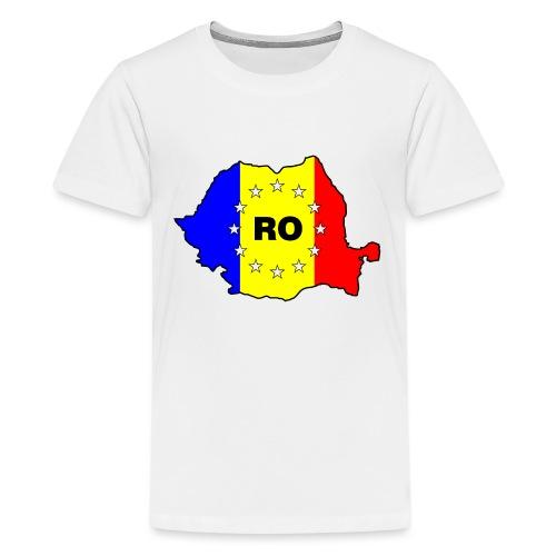 Rumänien-Karte mit EU-Sternen - Teenager Premium T-Shirt