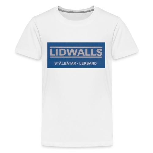 Lidwalls Stålbåtar - Premium-T-shirt tonåring
